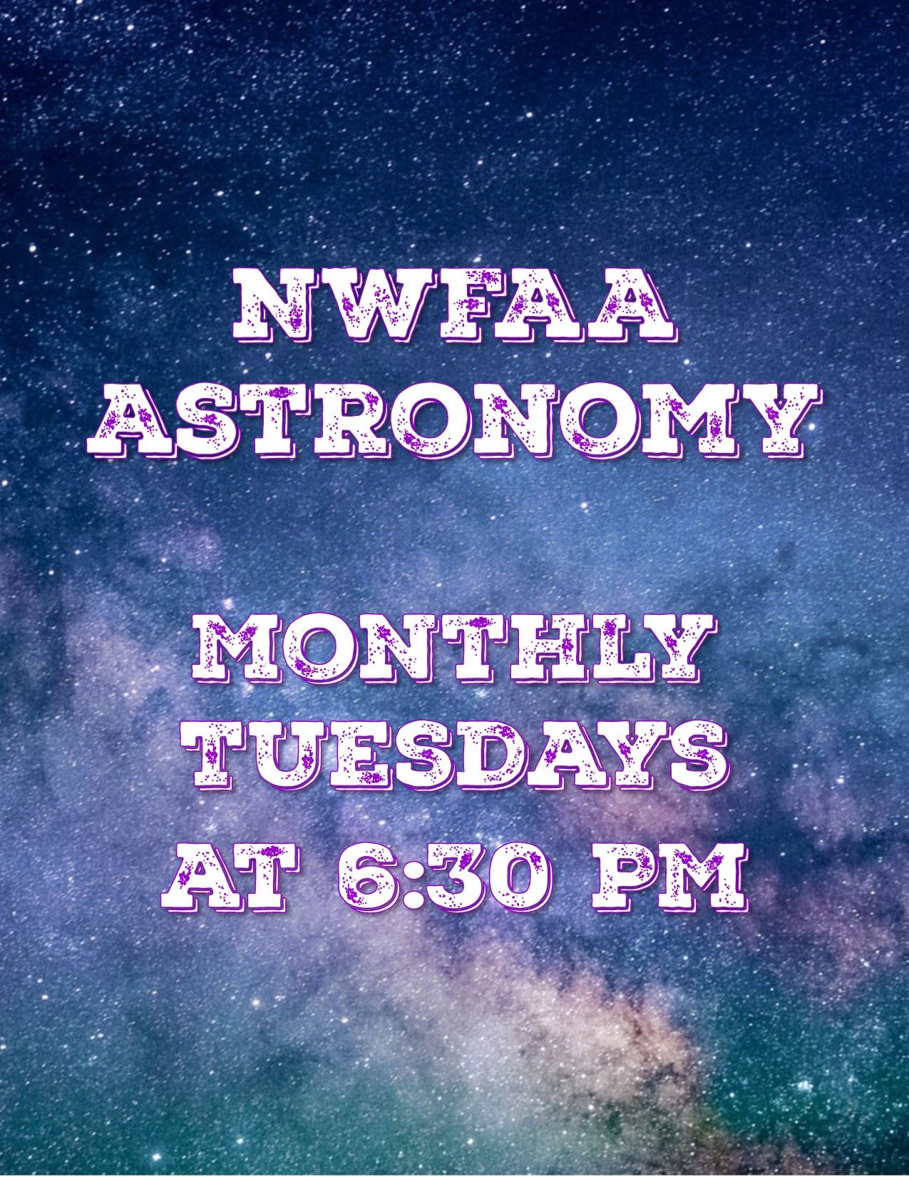 NWFLAA Astronomy workshop