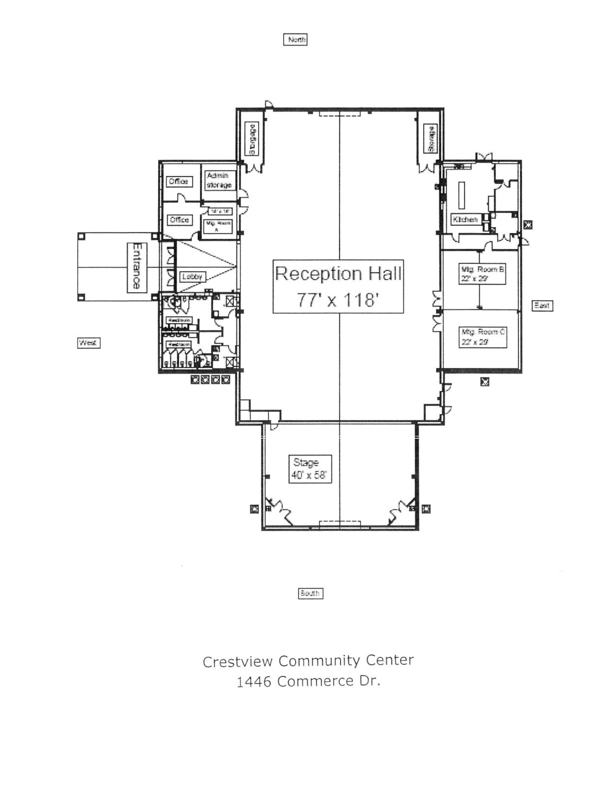 Community Center Map