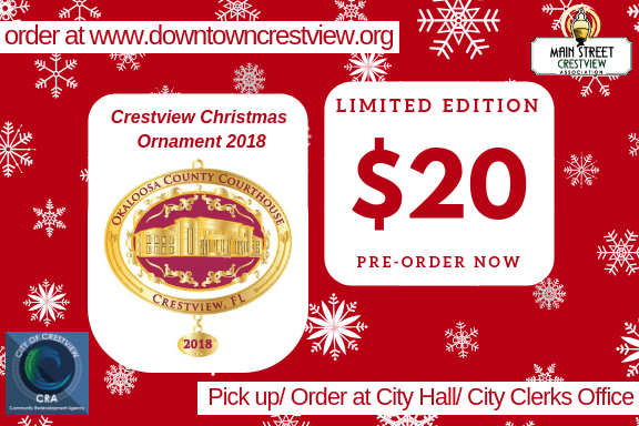 Christmas Ornament 2018 $20.00 order