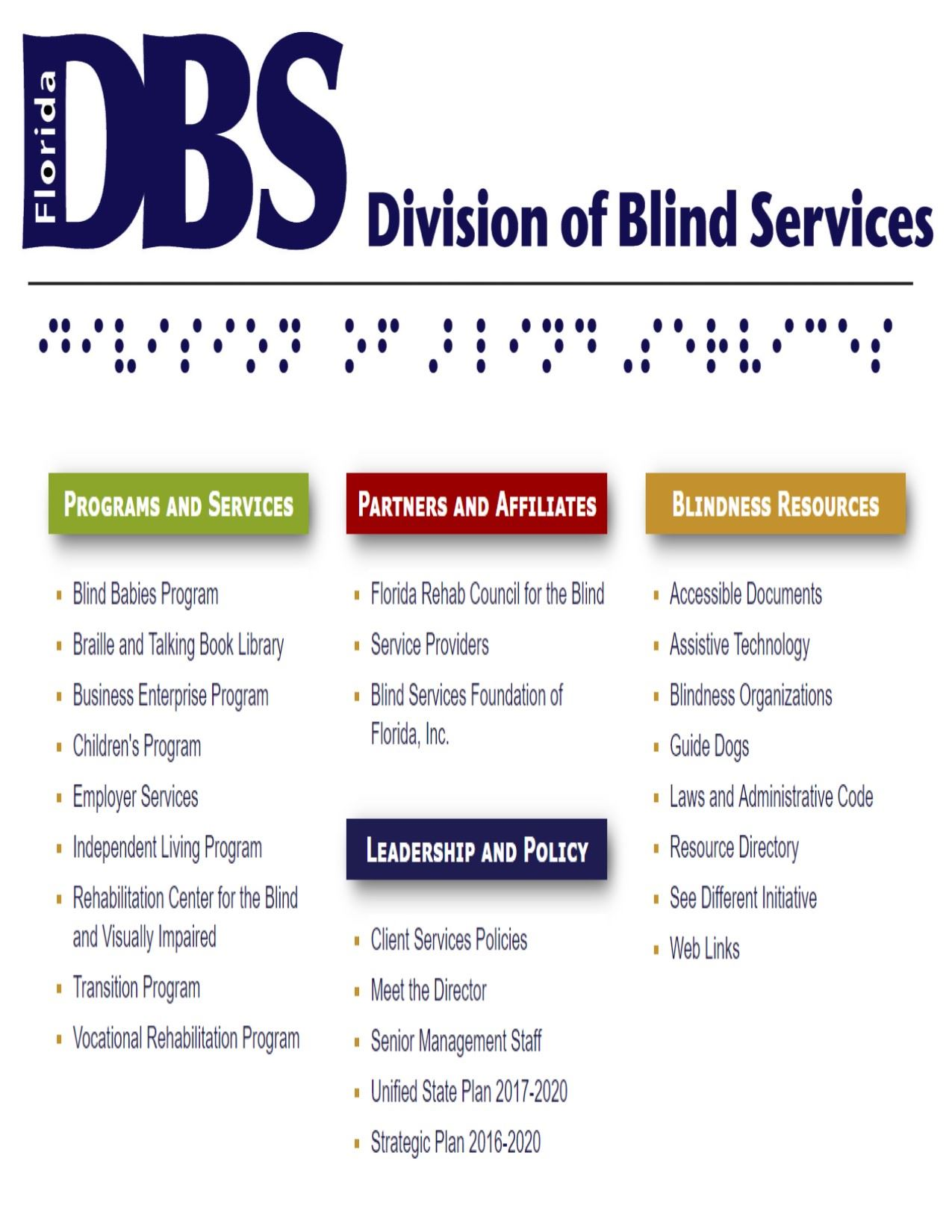 division of blind services