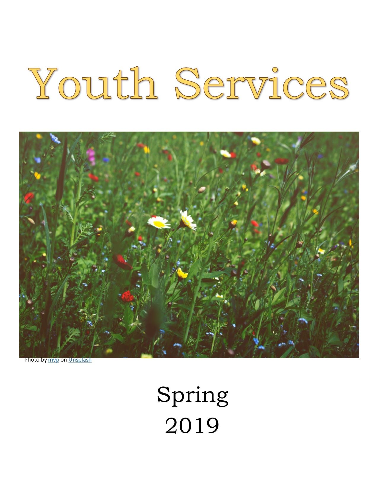 Click for printable Youth Service Schedule