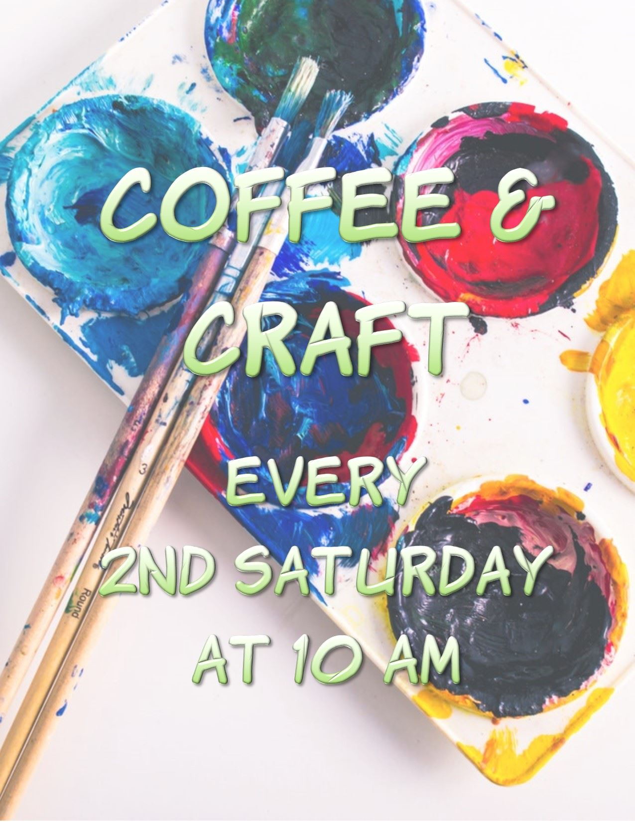 Click for printable Coffee & Craft schedule