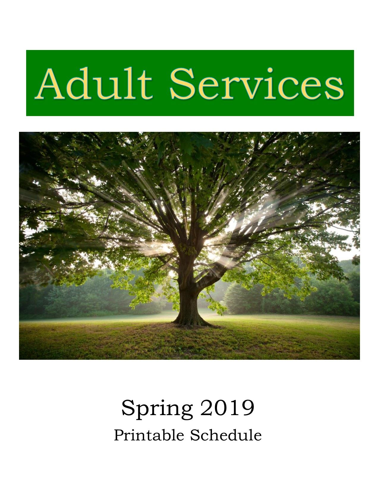 Click for printable Adult Service schedule