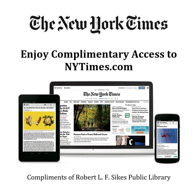 Complimentary online access to New York Times