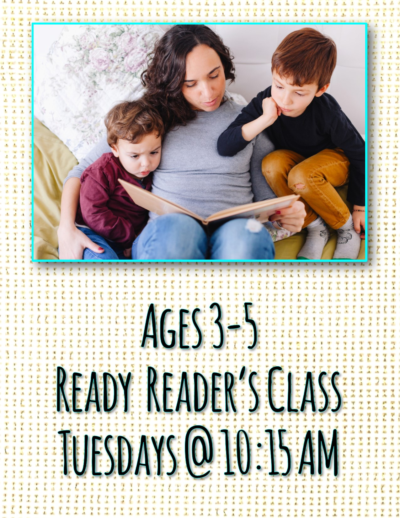 Ages 3-5 Ready Reader's Class
