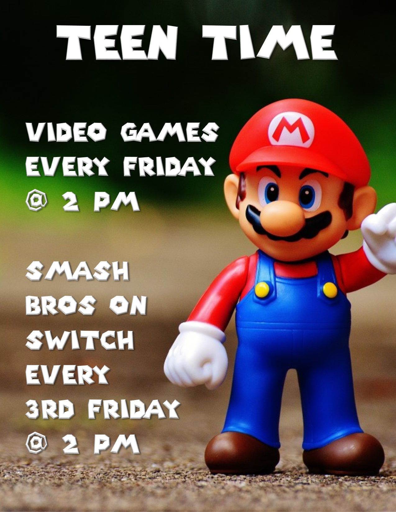 Teen Time Video Games and Smash Bros