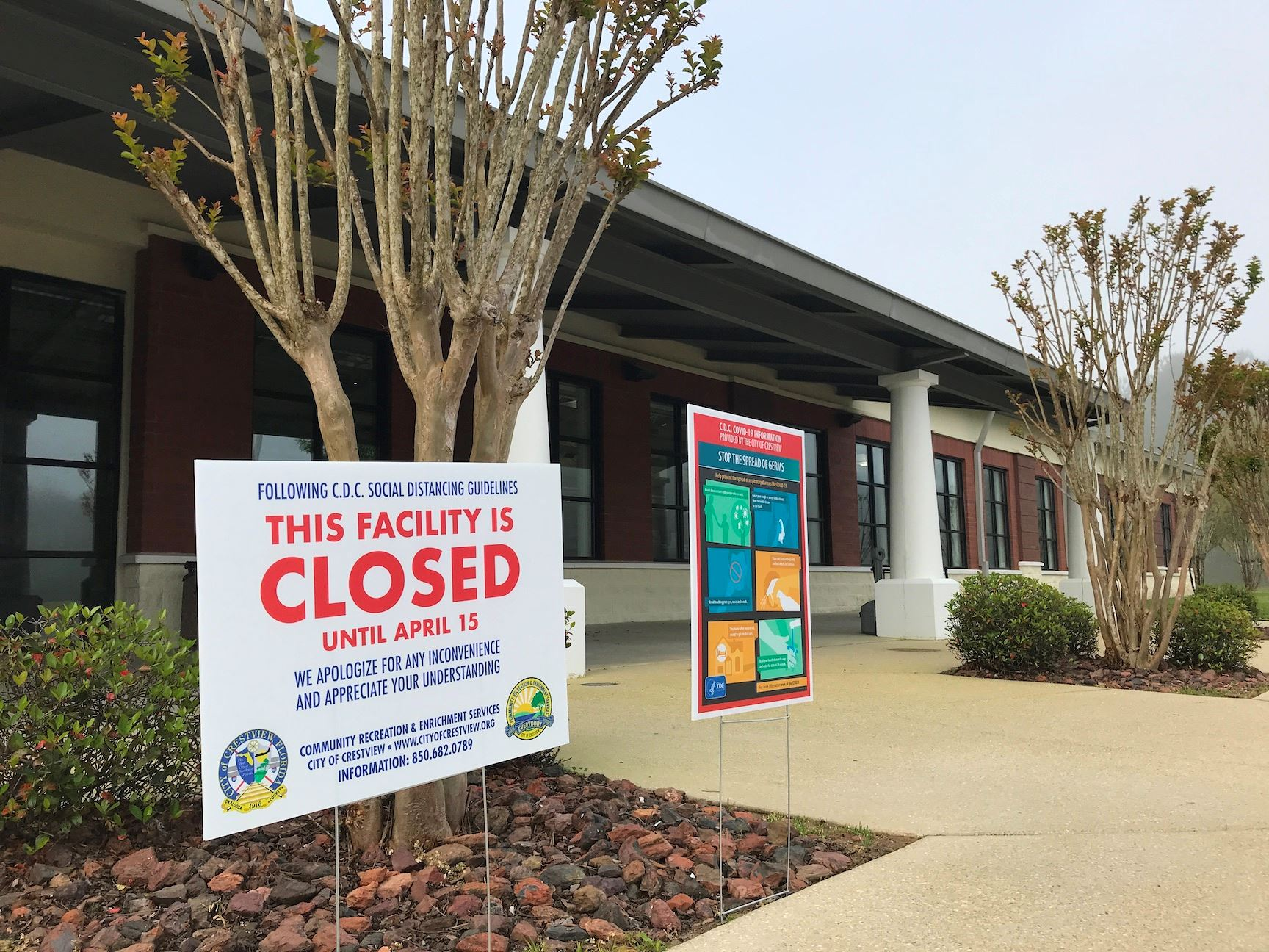 While the Crestview Public Library building is closed to help prevent the spread of the coronavirus,