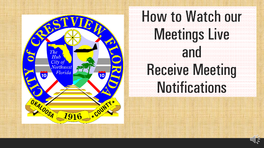 How to watch our meetings and receive notifications