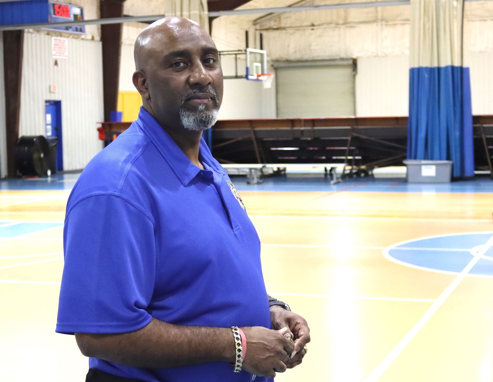Crestview recreation programs supervisor George Hillsman is pictured in the Twin Hills Park gym.