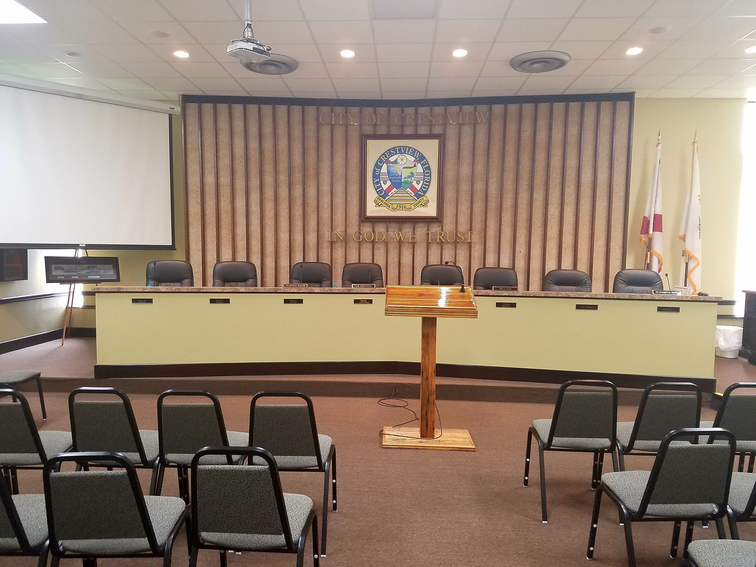 City of Crestview Council Chambers