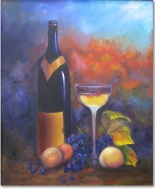 Oils and Acrylics by Helen Blair - Wine