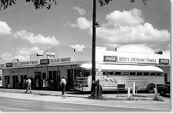 Reeses Greyhound Bus Station - Circa 1950s