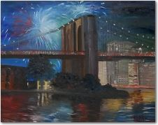 Bridge With Fireworks