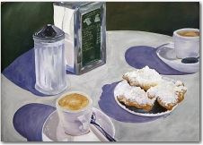 Two Coffees and a Plate of Pastries